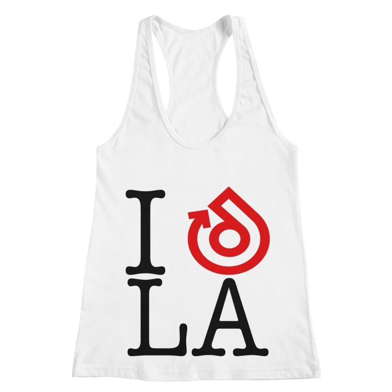 I heart LA LOGO shirt Women's Racerback Tank by direction.church gear