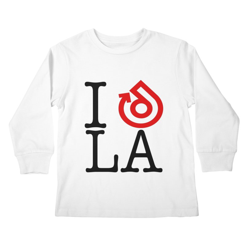 I heart LA LOGO shirt Kids Longsleeve T-Shirt by direction.church gear