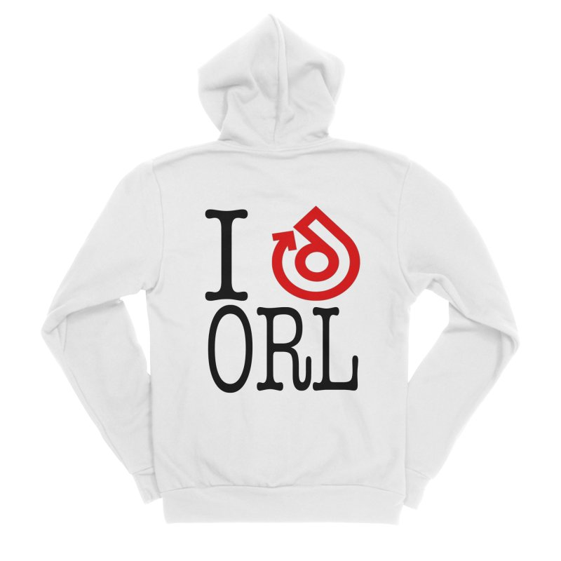 I heart ORL shirt Women's Sponge Fleece Zip-Up Hoody by direction.church gear