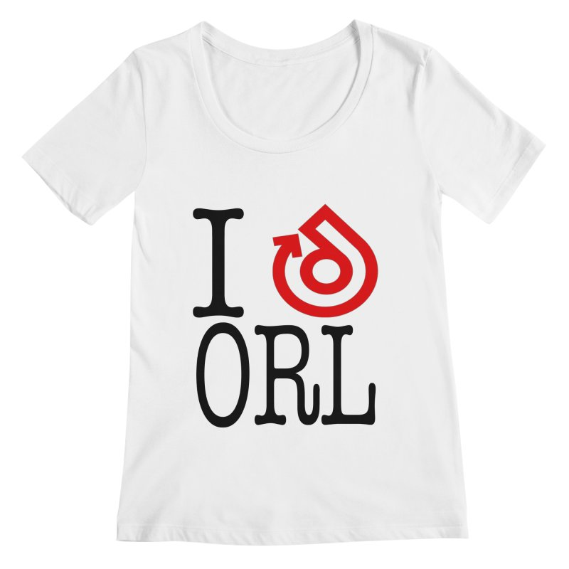 I heart ORL shirt Women's Regular Scoop Neck by direction.church gear