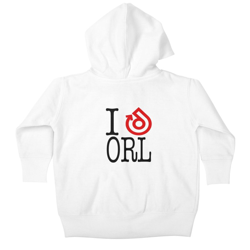I heart ORL shirt Kids Baby Zip-Up Hoody by direction.church gear