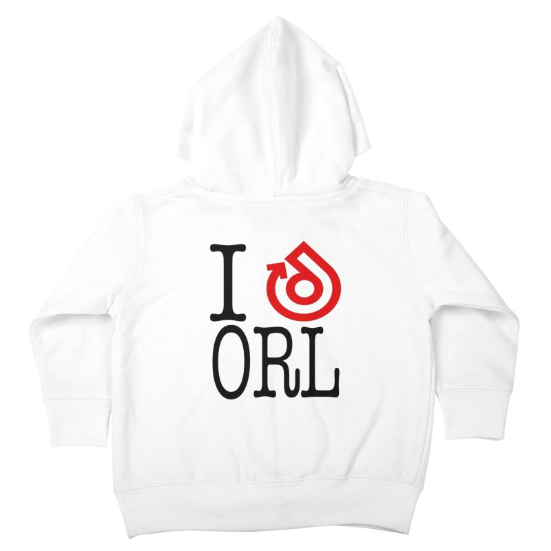 I heart ORL shirt Kids Toddler Zip-Up Hoody by direction.church gear
