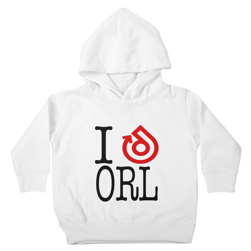I heart ORL shirt Kids Toddler Pullover Hoody by direction.church gear