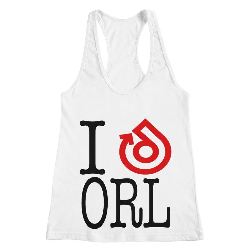 I heart ORL shirt Women's Racerback Tank by direction.church gear
