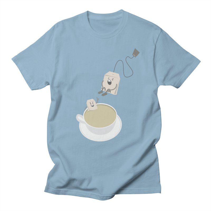 Tea for two in Men's T-Shirt Light Blue by dirtelawndre's Artist Shop