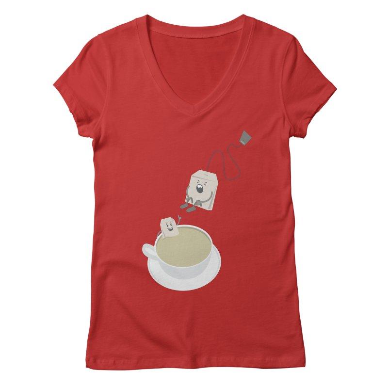Tea for two Women's V-Neck by dirtelawndre's Artist Shop