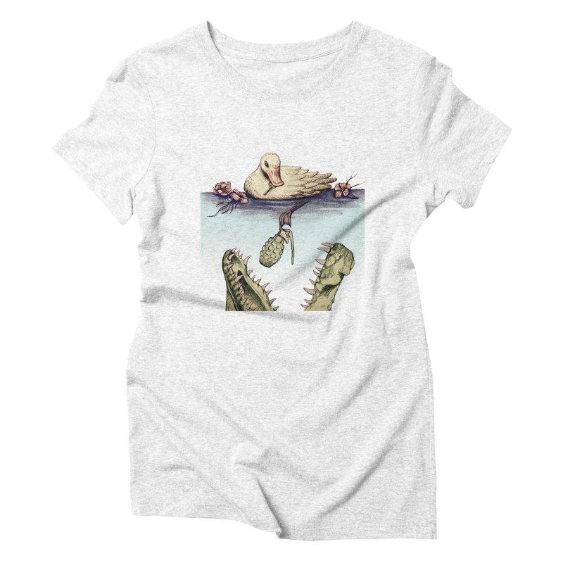 Duck vs. Gator Women's Triblend T-shirt by DIRTWORSHIP