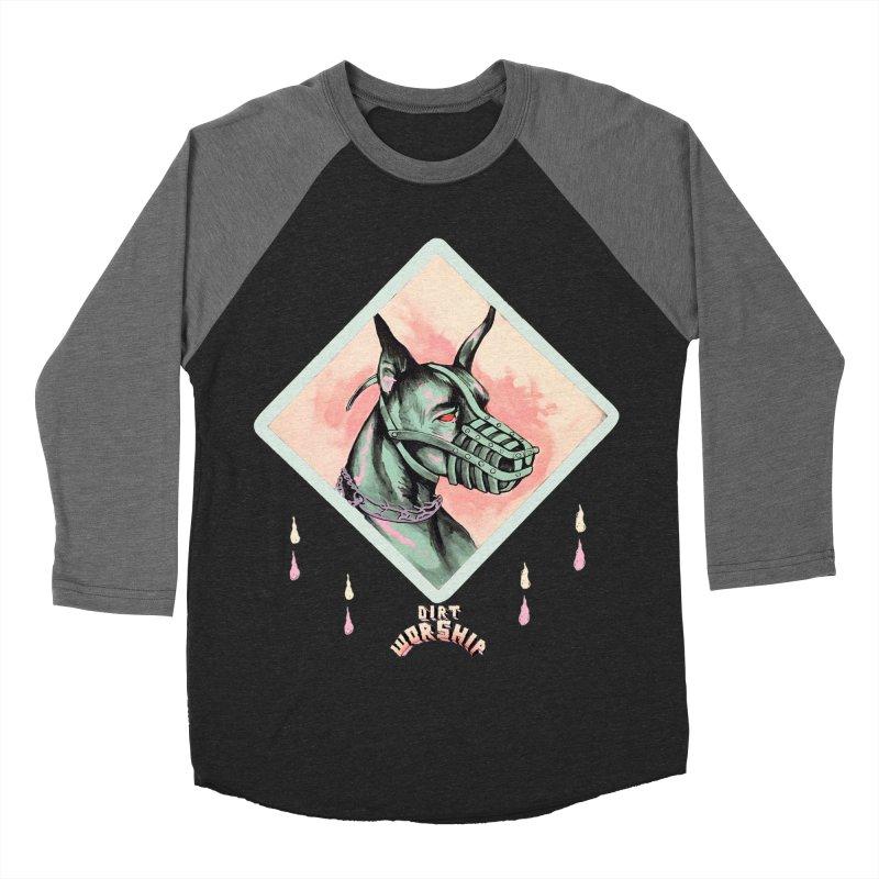 Dog (black) Women's Baseball Triblend T-Shirt by DIRTWORSHIP