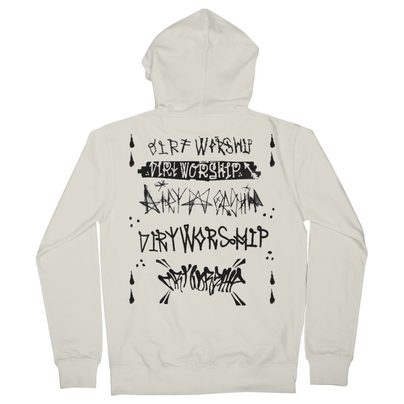 Dirt Worship logo Men's French Terry Zip-Up Hoody by DIRTWORSHIP