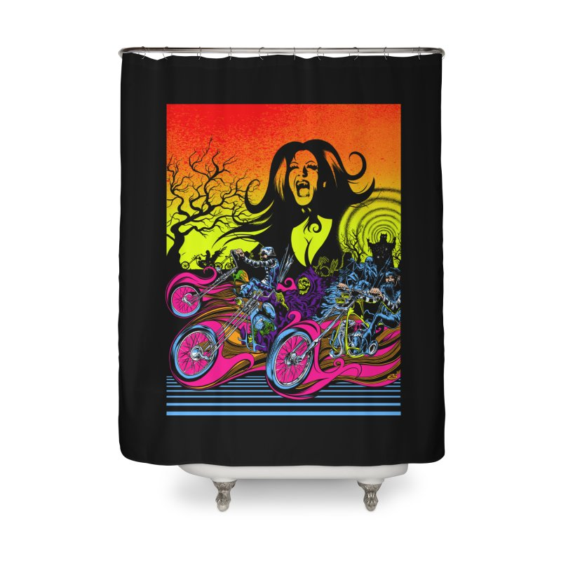 Acid Eaters Home Shower Curtain by Dirty Donny's Apparel Shop
