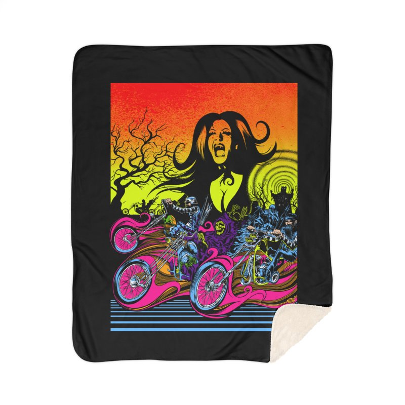 Acid Eaters Home Sherpa Blanket Blanket by Dirty Donny's Apparel Shop