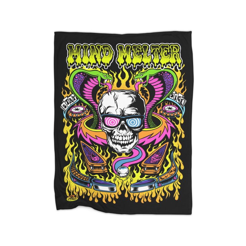 Mind Melter Home Fleece Blanket Blanket by Dirty Donny's Apparel Shop