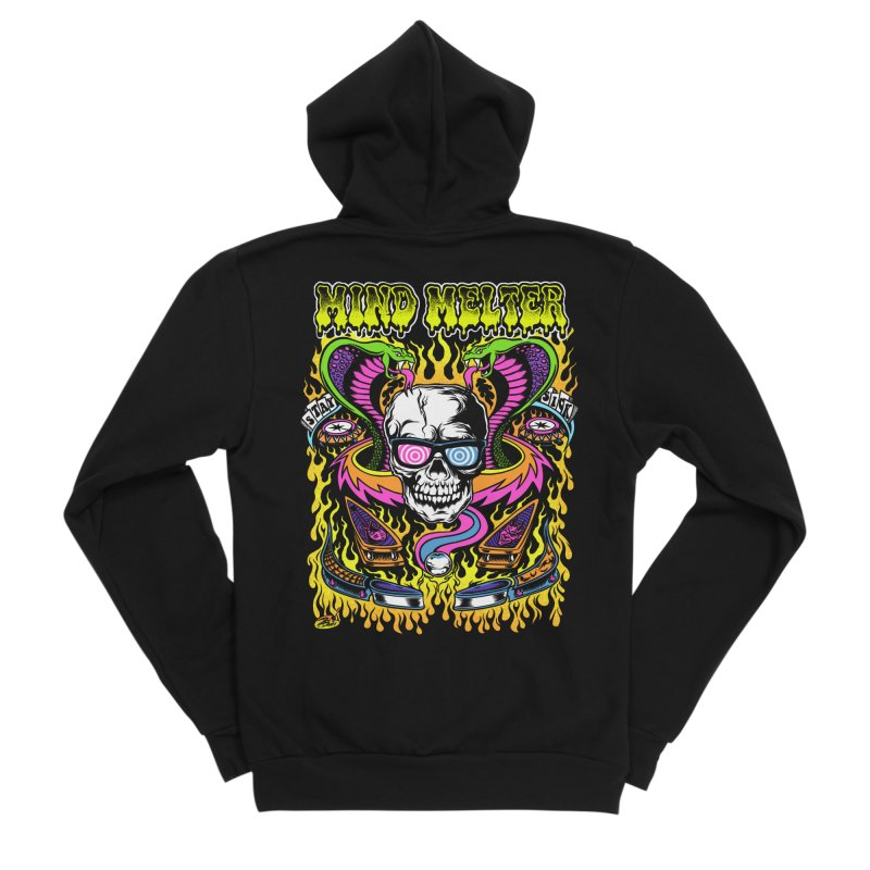 Mind Melter Men's Zip-Up Hoody by Dirty Donny's Apparel Shop