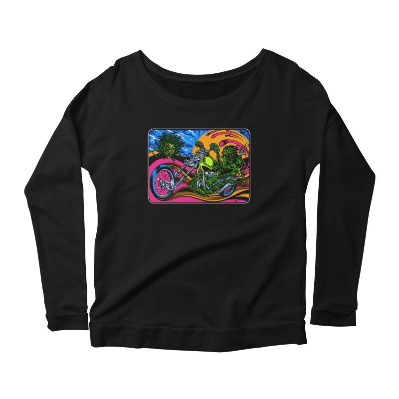 Gettin Stoned Women's Scoop Neck Longsleeve T-Shirt by Dirty Donny's Apparel Shop
