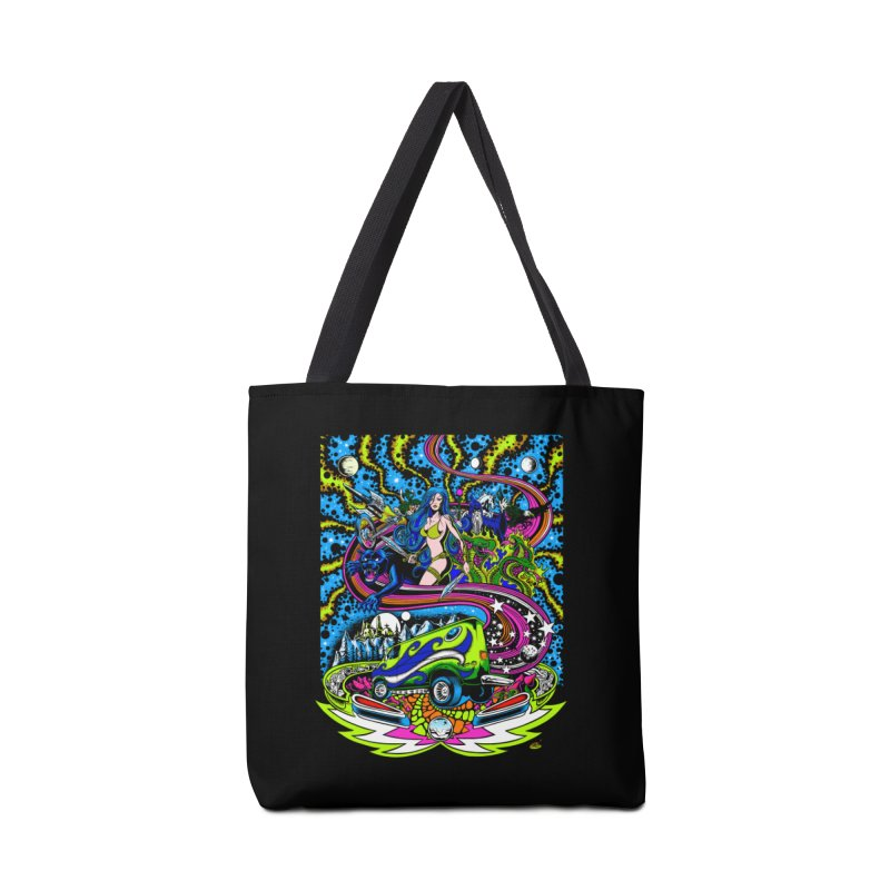 Into The Cosmic Accessories Tote Bag Bag by Dirty Donny's Apparel Shop
