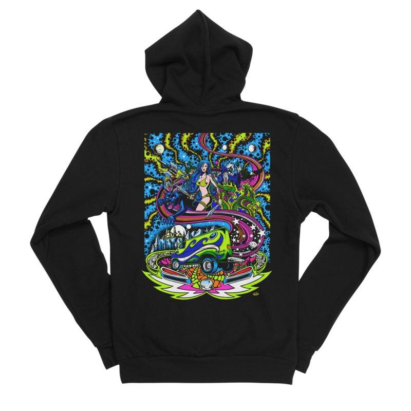 Into The Cosmic Men's Sponge Fleece Zip-Up Hoody by Dirty Donny's Apparel Shop