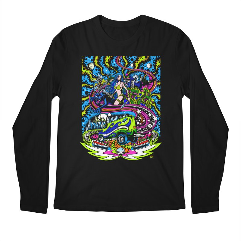 Into The Cosmic Men's Regular Longsleeve T-Shirt by Dirty Donny's Apparel Shop