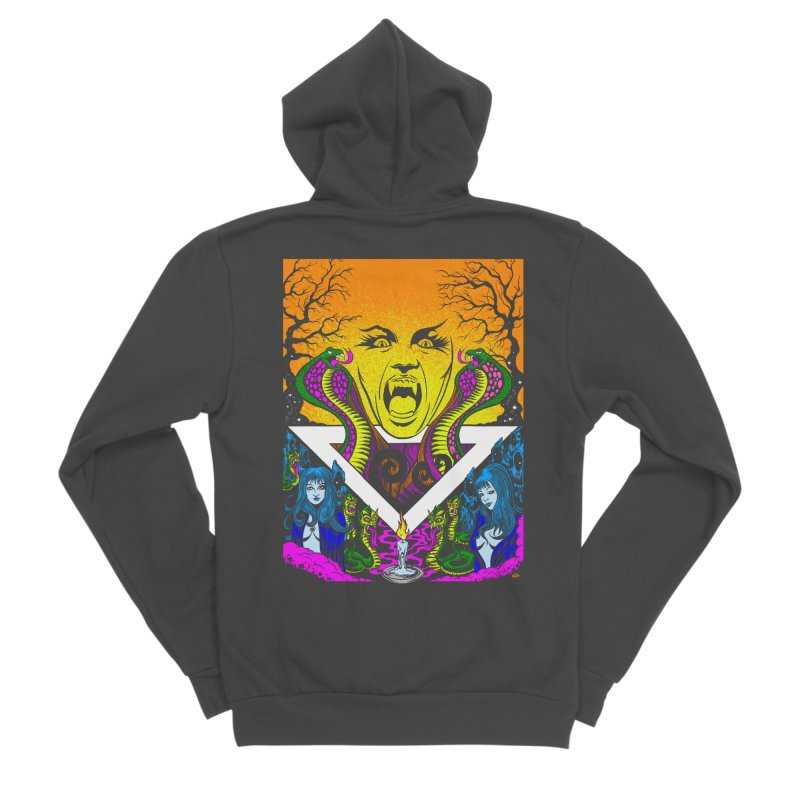 Witching Hour Men's Sponge Fleece Zip-Up Hoody by Dirty Donny's Apparel Shop