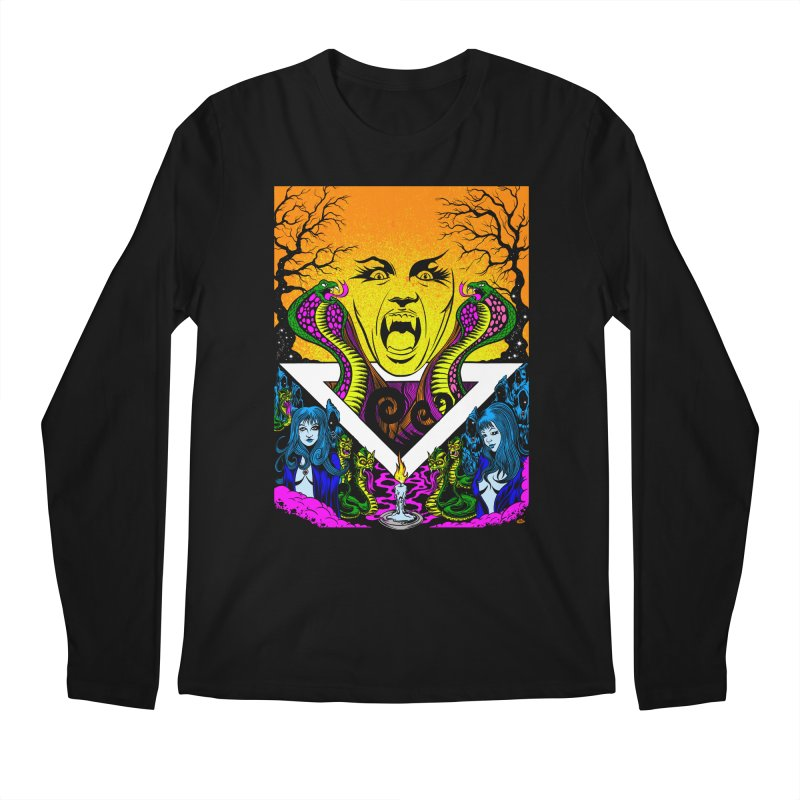 Witching Hour Men's Regular Longsleeve T-Shirt by Dirty Donny's Apparel Shop