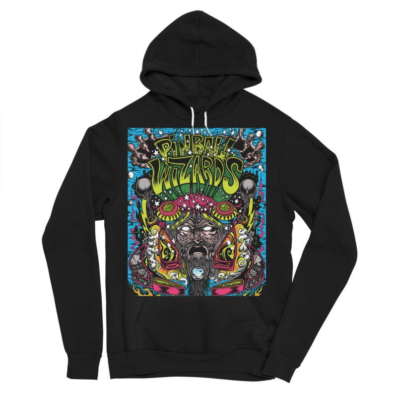 Pinball Wizards Men's Sponge Fleece Pullover Hoody by Dirty Donny's Apparel Shop