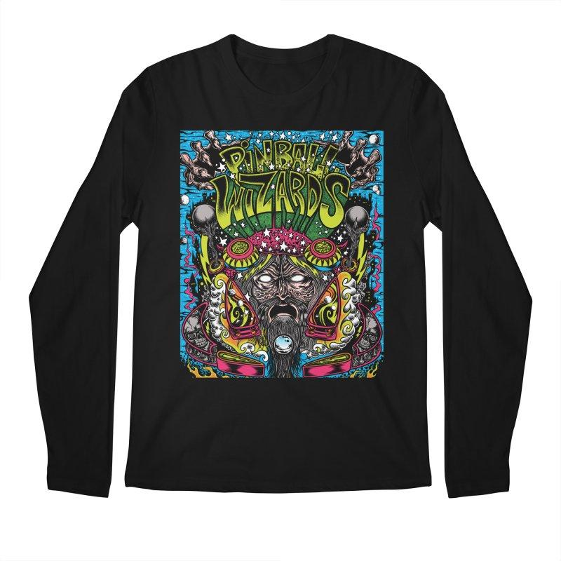 Pinball Wizards Men's Regular Longsleeve T-Shirt by Dirty Donny's Apparel Shop