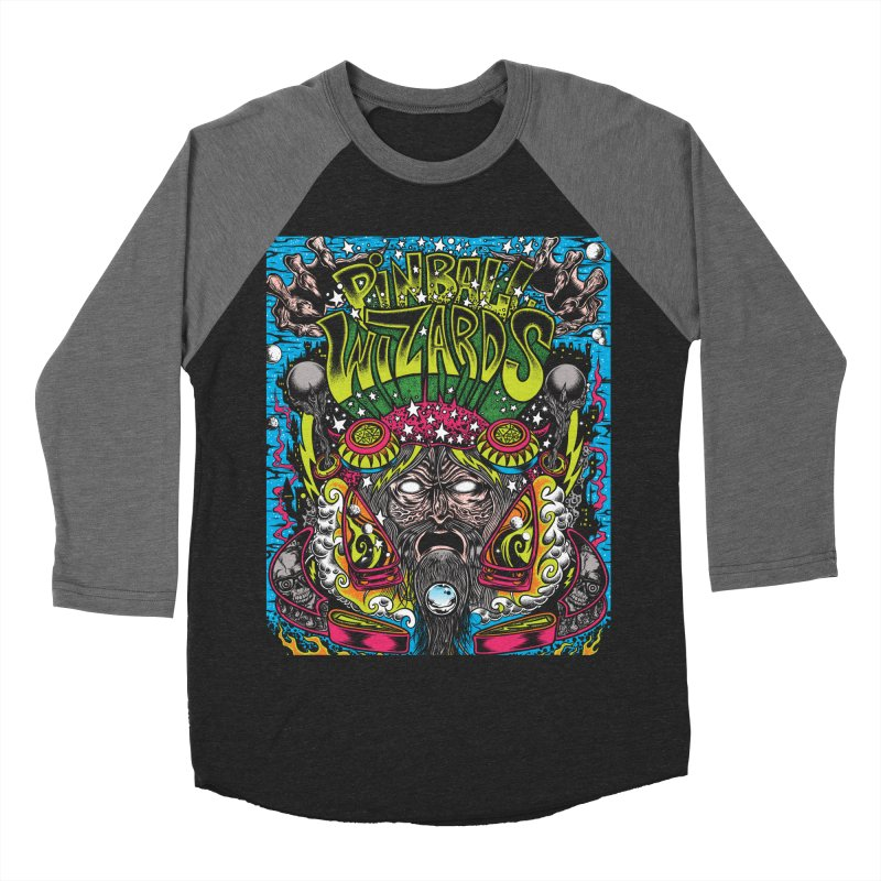 Pinball Wizards Women's Baseball Triblend Longsleeve T-Shirt by Dirty Donny's Apparel Shop
