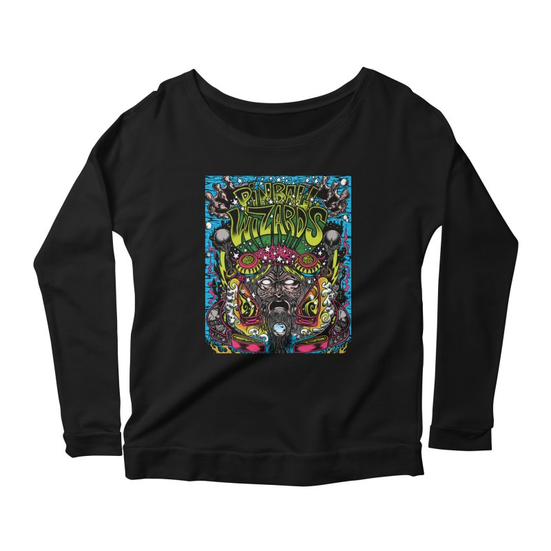 Pinball Wizards Women's Scoop Neck Longsleeve T-Shirt by Dirty Donny's Apparel Shop