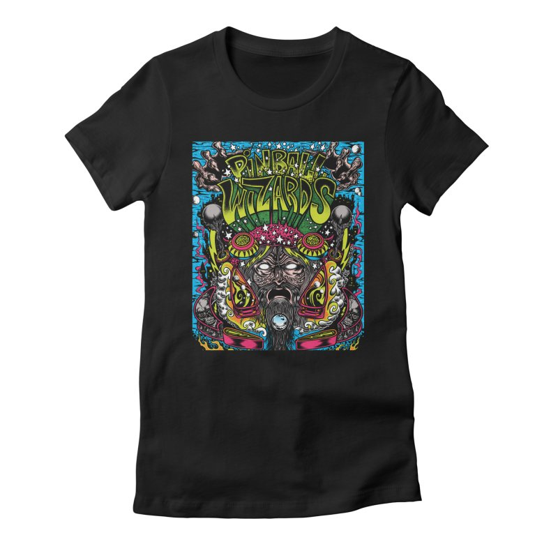 Pinball Wizards Women's Fitted T-Shirt by Dirty Donny's Apparel Shop