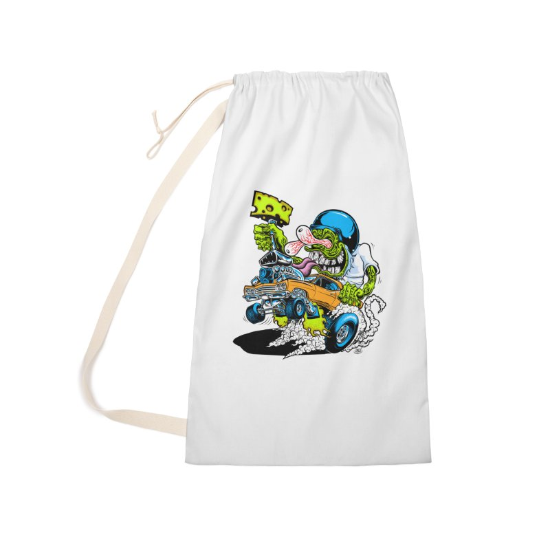 Cheese Runner Accessories Laundry Bag Bag by Dirty Donny's Apparel Shop