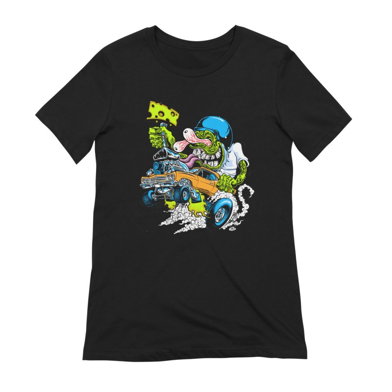Cheese Runner Women's Extra Soft T-Shirt by Dirty Donny's Apparel Shop