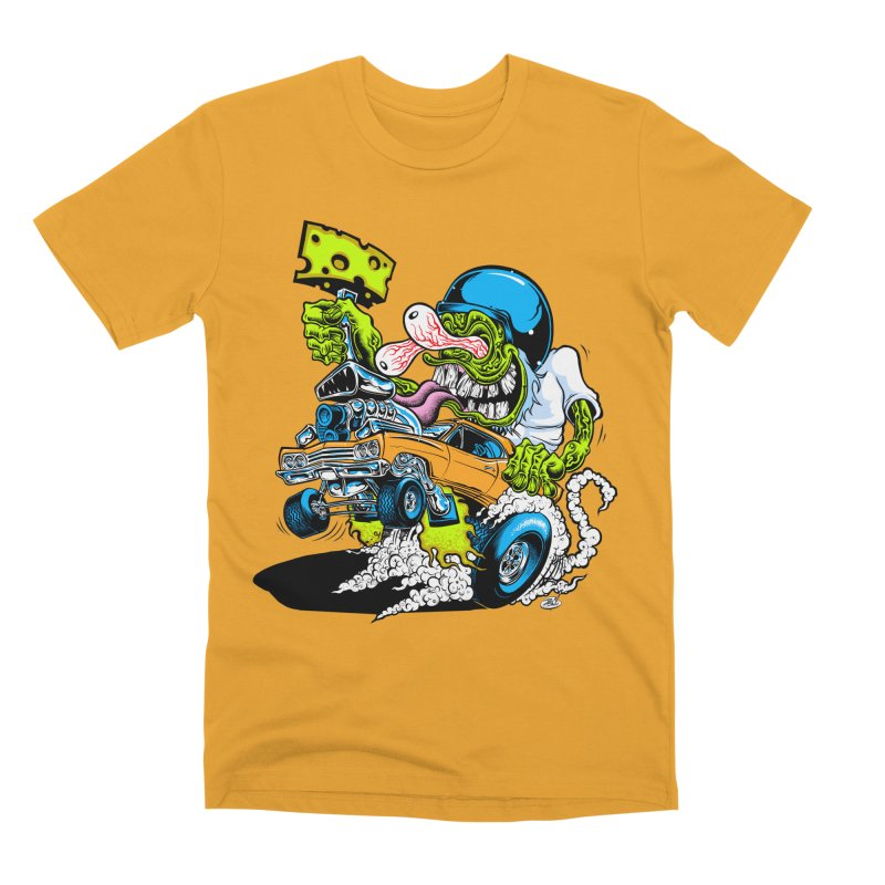 Cheese Runner Men's Premium T-Shirt by Dirty Donny's Apparel Shop