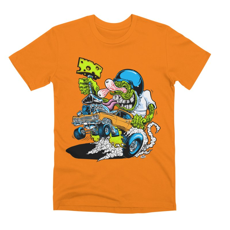 Cheese Runner Men's T-Shirt by Dirty Donny's Apparel Shop