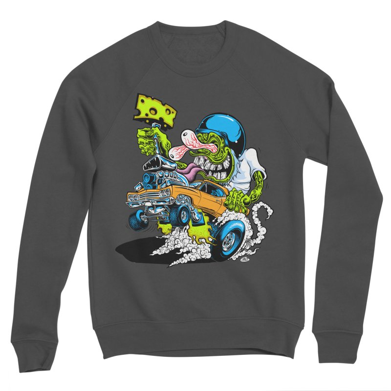 Cheese Runner Women's Sponge Fleece Sweatshirt by Dirty Donny's Apparel Shop