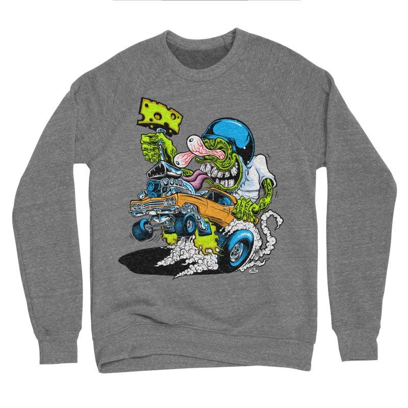 Cheese Runner Men's Sponge Fleece Sweatshirt by Dirty Donny's Apparel Shop