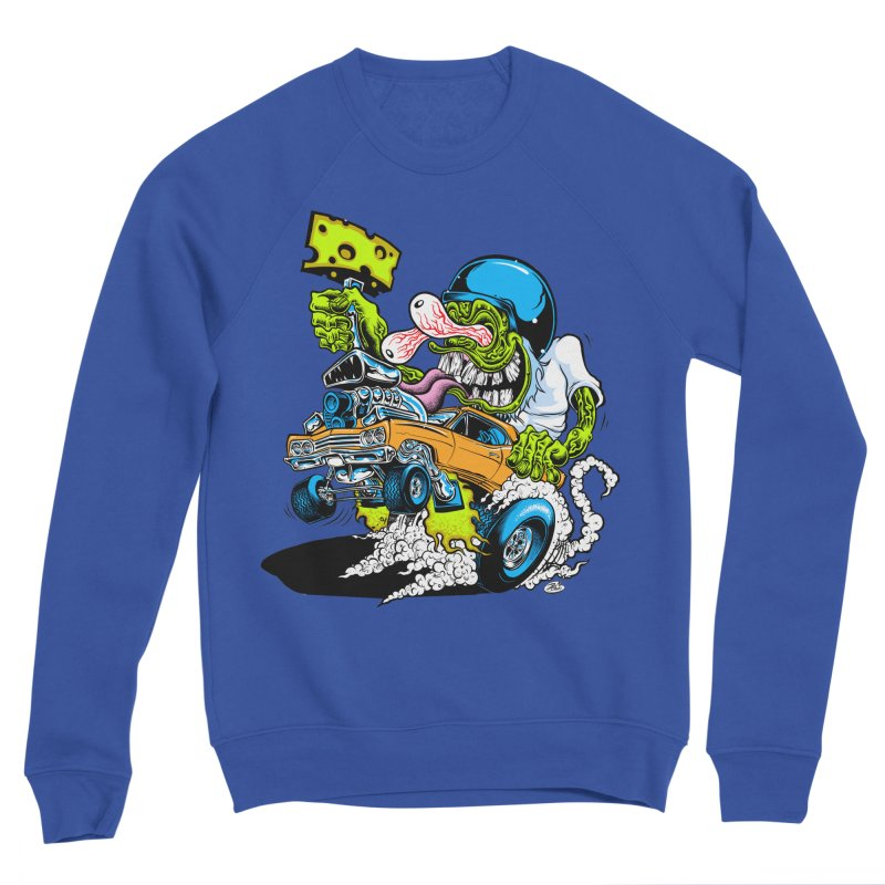 Cheese Runner Men's Sweatshirt by Dirty Donny's Apparel Shop