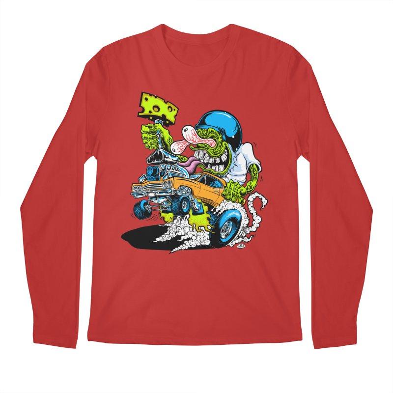 Cheese Runner Men's Regular Longsleeve T-Shirt by Dirty Donny's Apparel Shop
