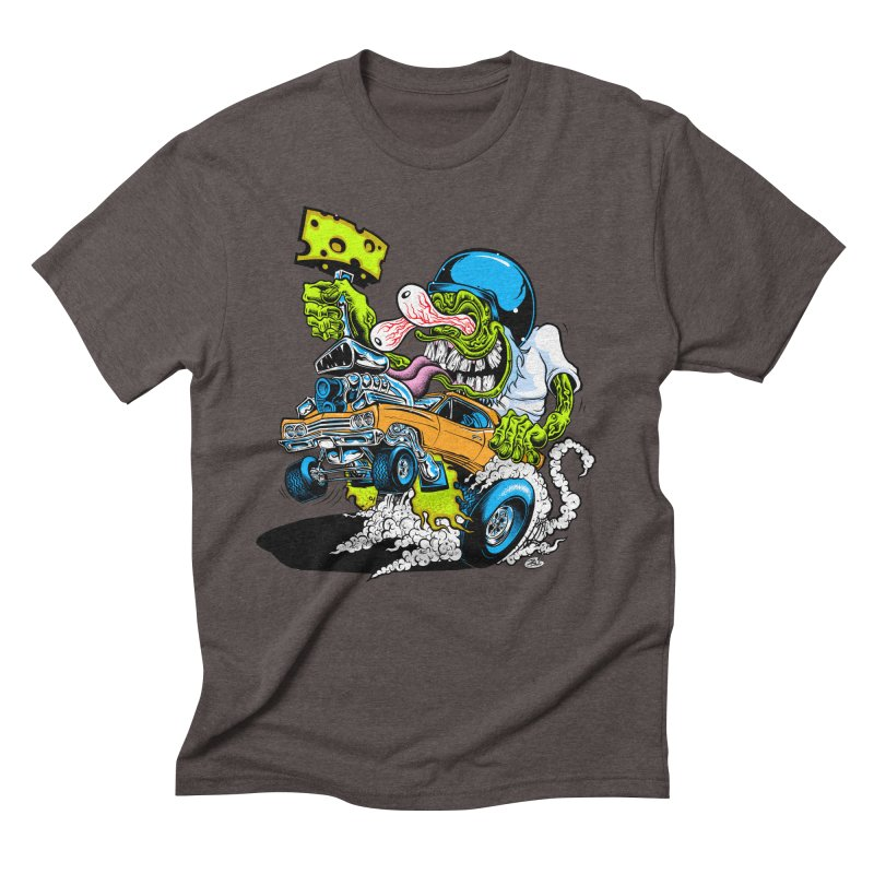 Cheese Runner Men's Triblend T-Shirt by Dirty Donny's Apparel Shop