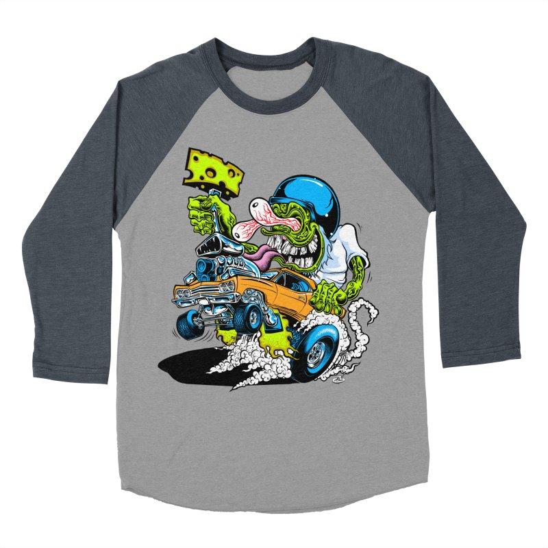 Cheese Runner Women's Baseball Triblend Longsleeve T-Shirt by Dirty Donny's Apparel Shop