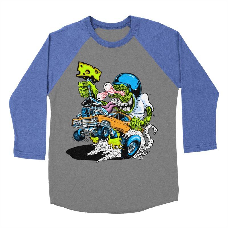 Cheese Runner Men's Baseball Triblend Longsleeve T-Shirt by Dirty Donny's Apparel Shop