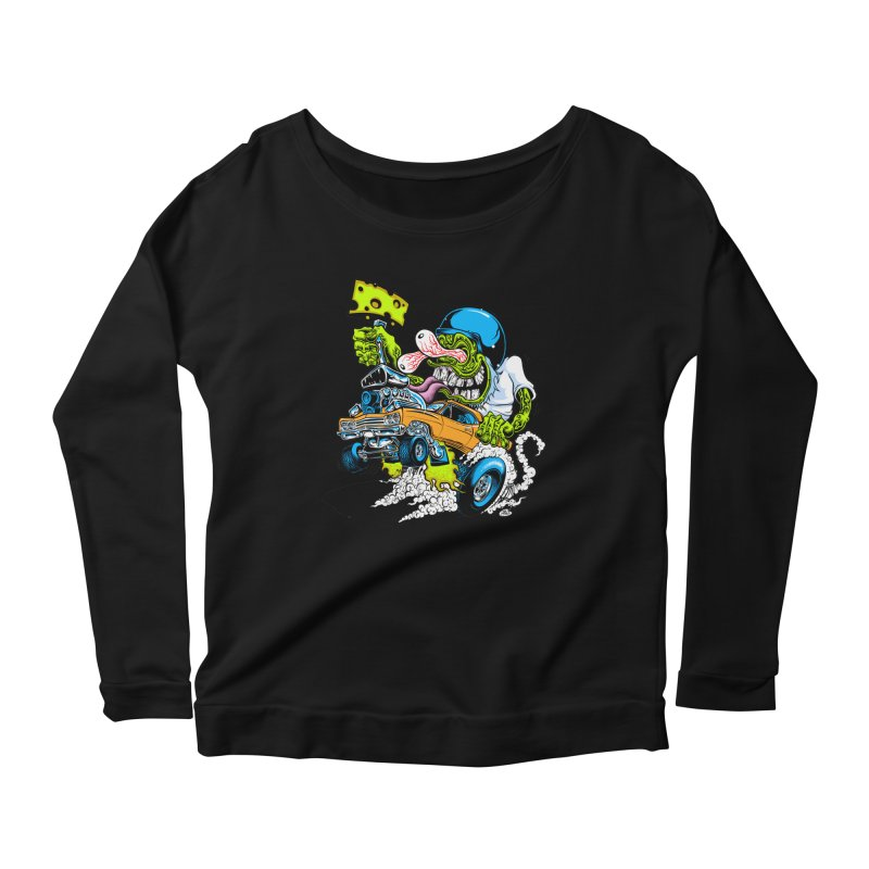 Cheese Runner Women's Scoop Neck Longsleeve T-Shirt by Dirty Donny's Apparel Shop