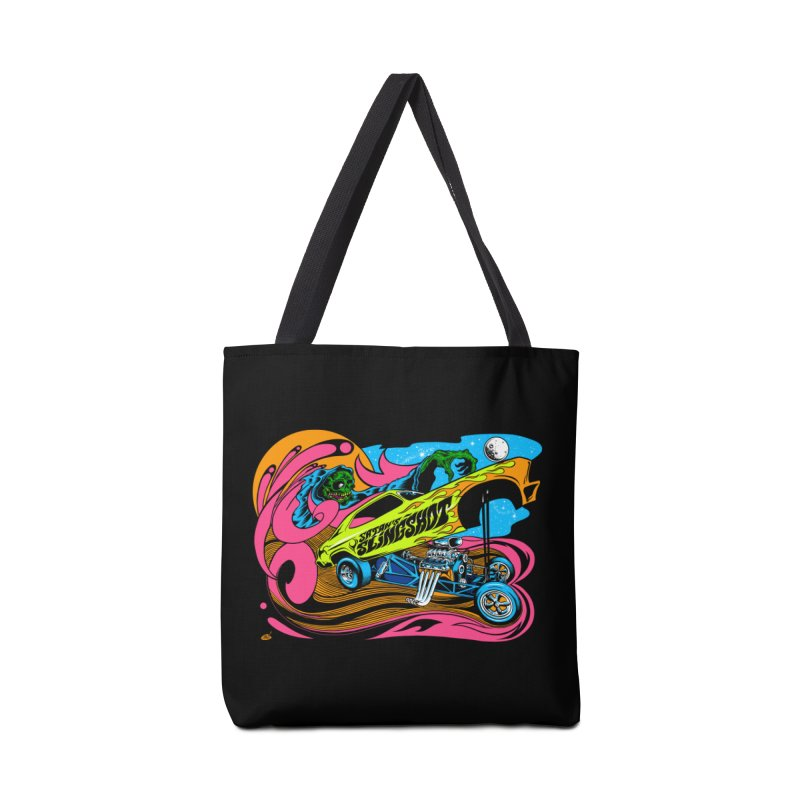 Satans Slingshot Accessories Tote Bag Bag by Dirty Donny's Apparel Shop