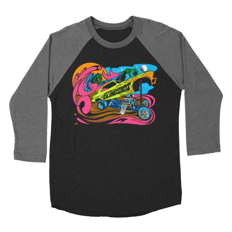 Satans Slingshot Men's Baseball Triblend Longsleeve T-Shirt by Dirty Donny's Apparel Shop