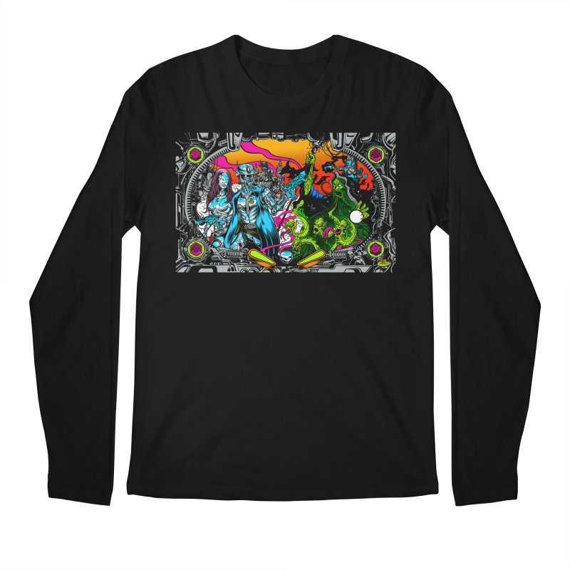 Sci vs Fi Men's Regular Longsleeve T-Shirt by Dirty Donny's Apparel Shop