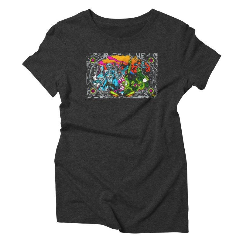 Sci vs Fi Women's Triblend T-Shirt by Dirty Donny's Apparel Shop
