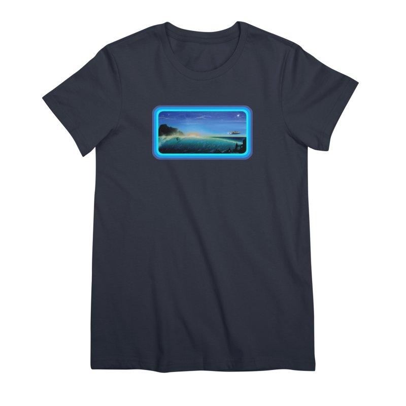 Surf Beyond Women's Premium T-Shirt by Dirty Donny's Apparel Shop