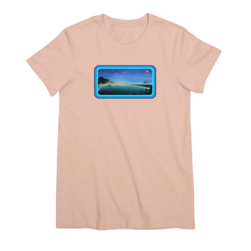 Surf Beyond Women's Premium T-Shirt by Dirty Donny's Apparel Shop