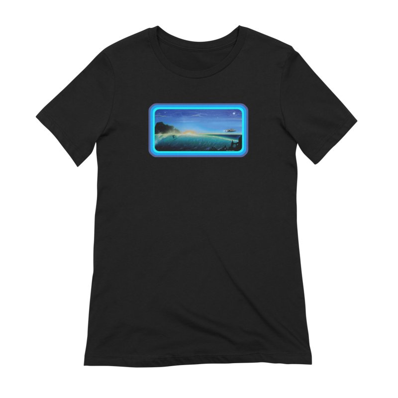 Surf Beyond Women's Extra Soft T-Shirt by Dirty Donny's Apparel Shop
