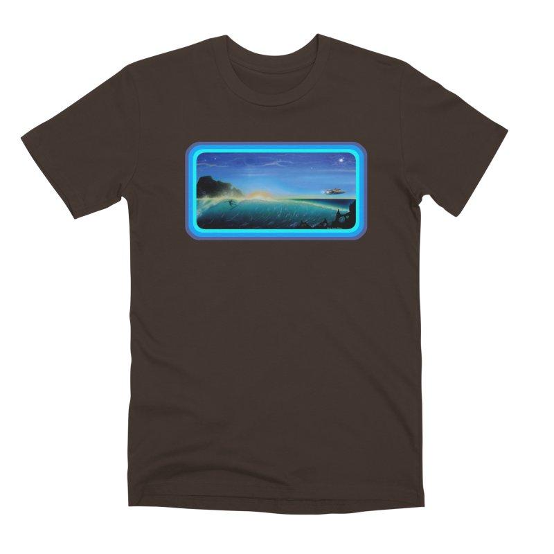 Surf Beyond Men's Premium T-Shirt by Dirty Donny's Apparel Shop