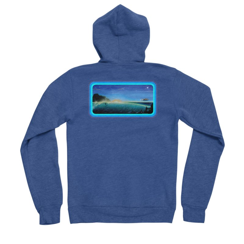 Surf Beyond Men's Sponge Fleece Zip-Up Hoody by Dirty Donny's Apparel Shop