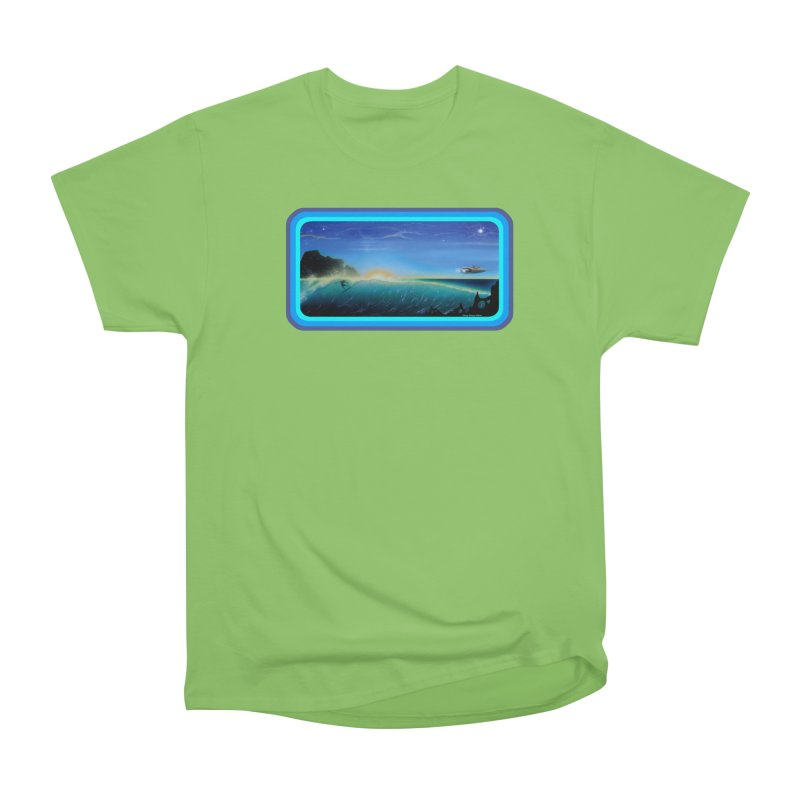 Surf Beyond Women's Heavyweight Unisex T-Shirt by Dirty Donny's Apparel Shop
